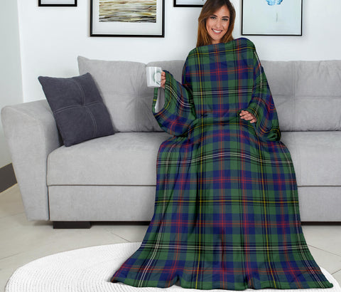 Image of Wood Modern Tartan Clans Sleeve Blanket K6
