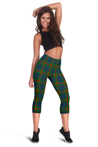 Image of Aiton Tartan Capris Leggings