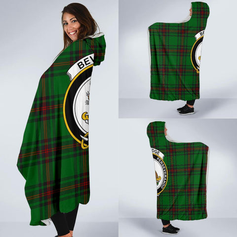 Beveridge Clans Tartan Hooded Blanket - BN