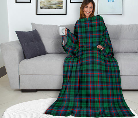 Urquhart Broad Red Ancient Tartan Clans Sleeve Blanket K6
