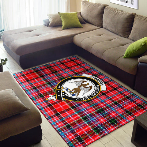 Straiton Clan Tartan Area Rug, Scottish Clans Tartan Area Rug, Scottish Rug, Scotland Area Rug