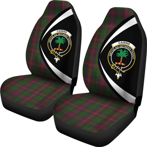 Cairns Tartan Clan Crest Car Seat Cover - Circle Style HJ4