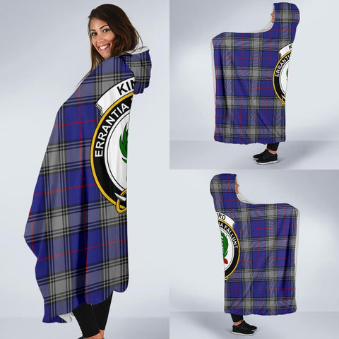 Image of Kinnaird Clans Tartan Hooded Blanket - BN