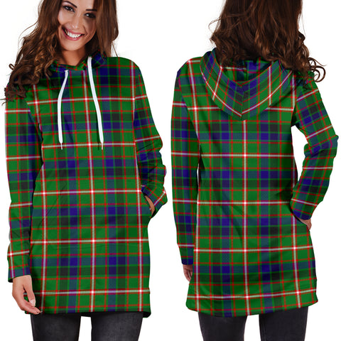 Reid Green Tartan Hoodie Dress HJ4