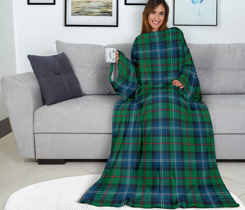 Image of Urquhart Ancient Tartan Clans Sleeve Blanket K6