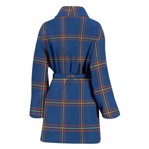 MacLaine of Loch Buie Hunting Ancient Tartan Womens Bathrobe - BN