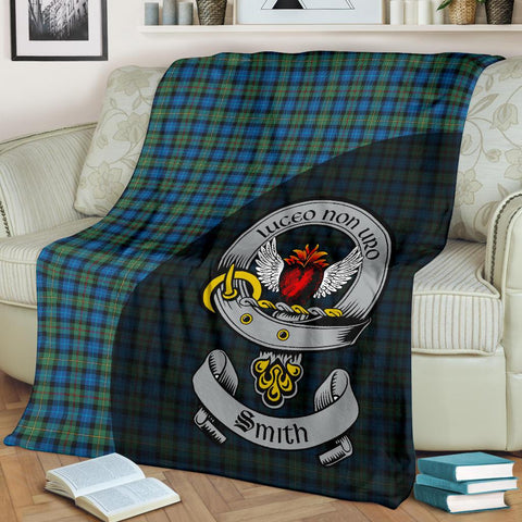 Smith Ancient Tartan Premium Blanket Wave Style TH8