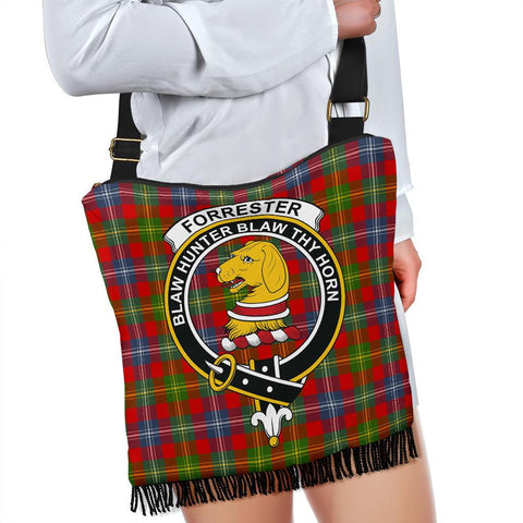 Forrester Tartan Clan Badge Boho Handbag K7