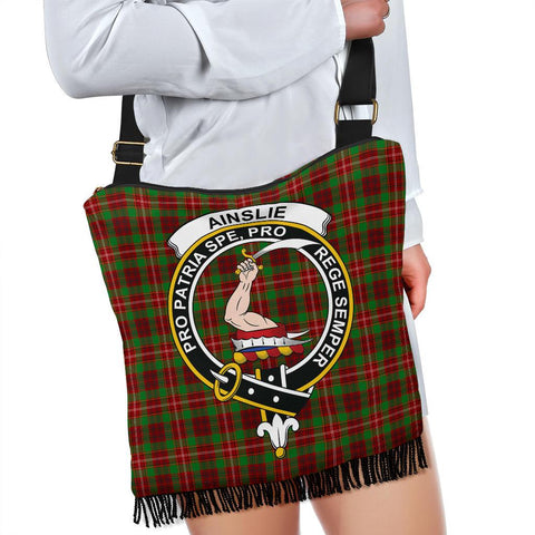 Ainslie Tartan Clan Badge Boho Handbag K7