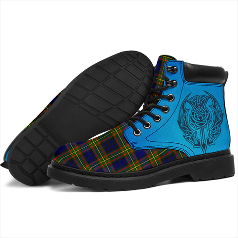 Clelland Modern Tartan All-Season Boots - Celtic Thistle TH8