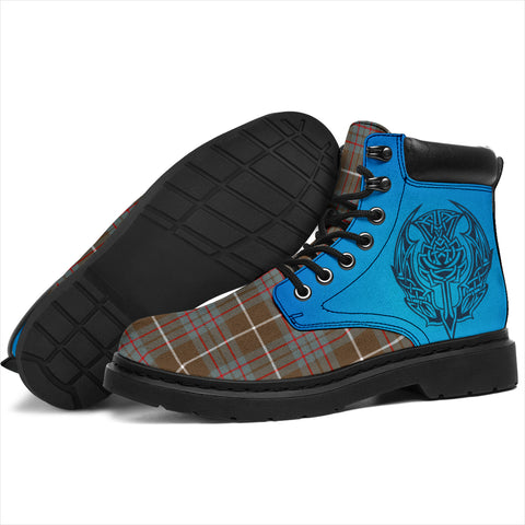 Macintyre Hunting Weathered Tartan All-Season Boots - Celtic Thistle TH8