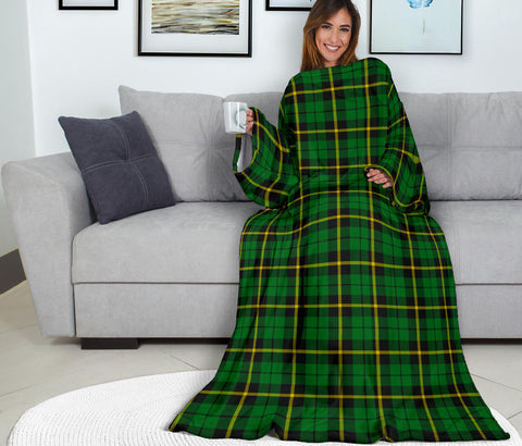 Wallace Hunting - Green Tartan Clans Sleeve Blanket K6