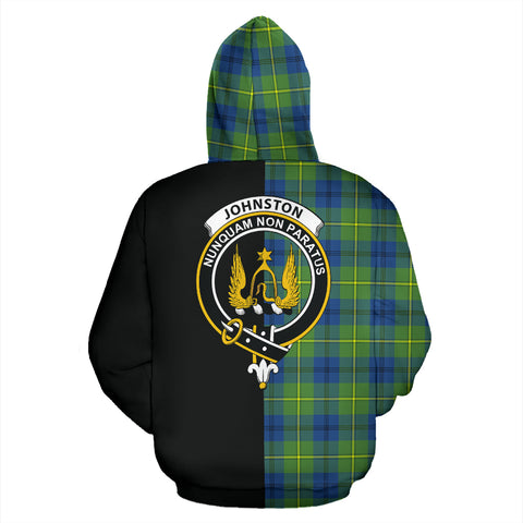 Johnston Ancient Tartan Hoodie Half Of Me TH8