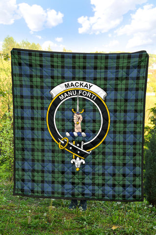 MacKay Ancient Tartan Clan Badge Premium Quilt TH8