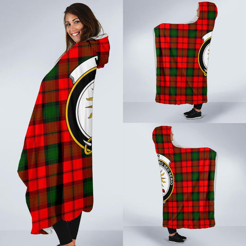 Image of Kerr Clans Tartan Hooded Blanket - BN
