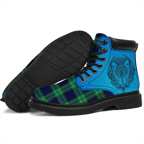 Image of Abercrombie Tartan All-Season Boots - Celtic Thistle TH8