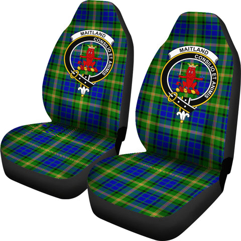Maitland Tartan Car Seat Covers - Clan Badge