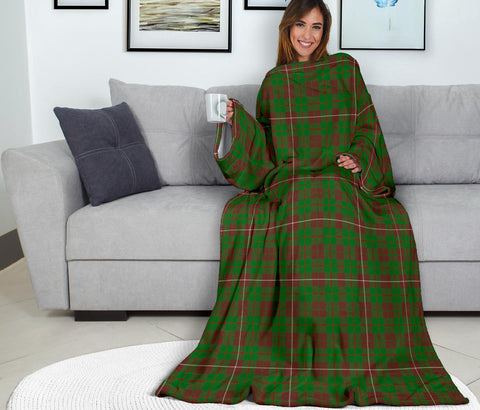 Image of MacKinnon Hunting Modern Tartan Clans Sleeve Blanket K6