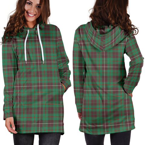 MacKinnon Hunting Ancient Tartan Hoodie Dress HJ4