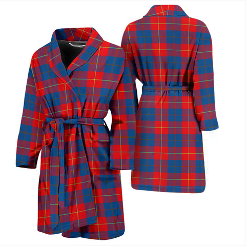 Galloway Red Tartan Mens Bathrobe - BN
