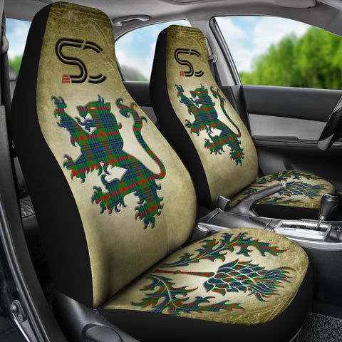 Aiton Tartan Car Seat Cover Lion and Thistle Special Style TH8