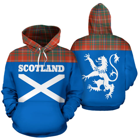 Tartan All Over Hoodie - Lion MacDougall Ancient