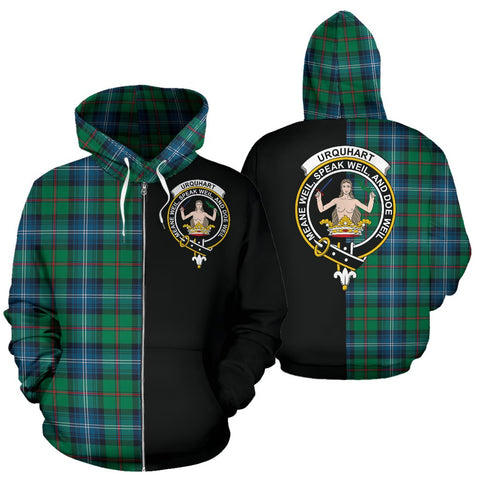(Custom your text) Urquhart Ancient Tartan Hoodie Half Of Me TH8