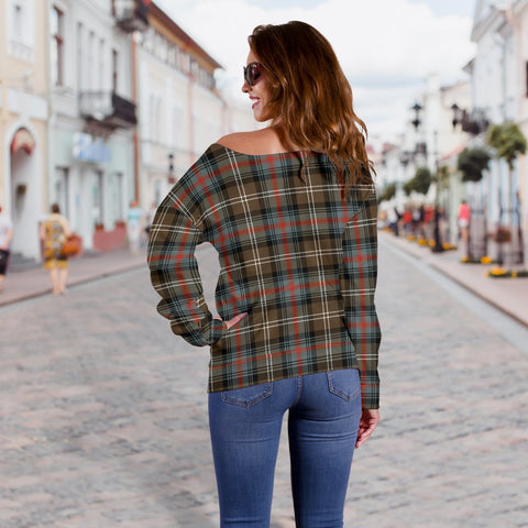 Tartan Womens Off Shoulder Sweater - Sutherland Weathered - BN