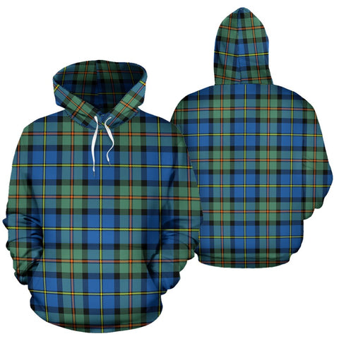 Macleod Of Harris Ancient Tartan Hoodie, Scottish Macleod Of Harris Ancient Plaid Pullover Hoodie