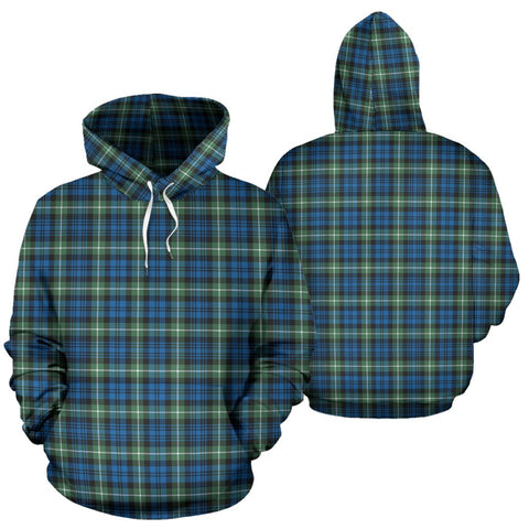 Lamont Ancient Tartan Hoodie, Scottish Lamont Ancient Plaid Pullover Hoodie