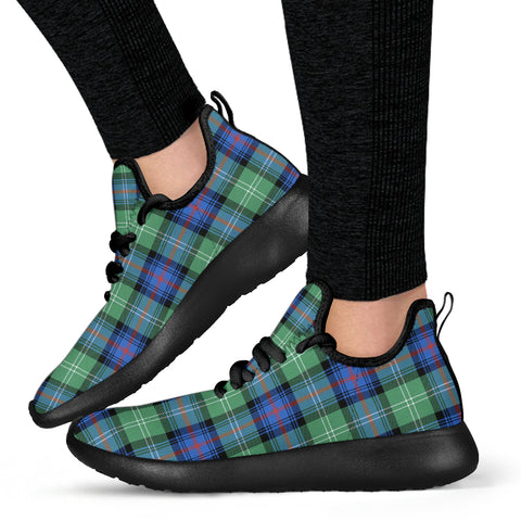 Tartan Mesh Knit Sneakers - Sutherland Old Ancient