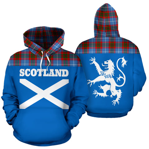 Image of Tartan All Over Hoodie - Lion Edinburgh District