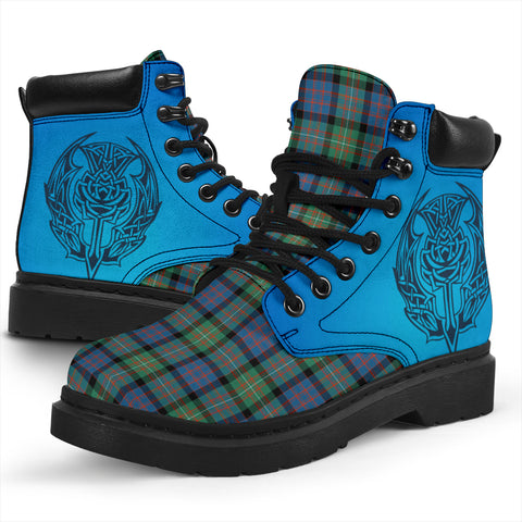 Image of Macdonnell Of Glengarry Ancient Tartan All-Season Boots - Celtic Thistle TH8