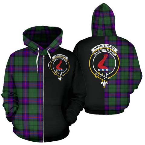 (Custom your text) Armstrong Modern Tartan Hoodie Half Of Me TH8