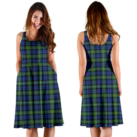 Campbell Argyll Ancient Plaid Women's Dress