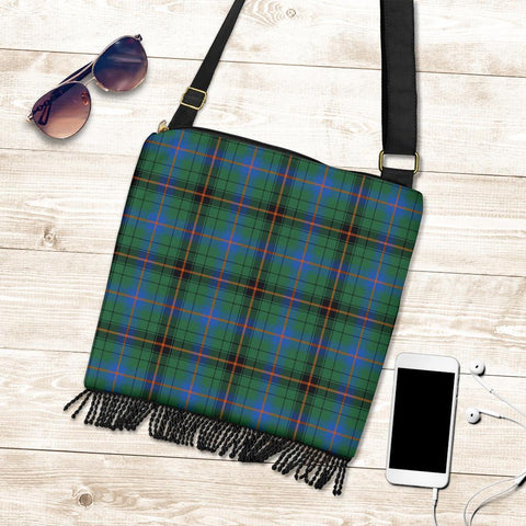 Image of Davidson Ancient Tartan Boho Handbag K7