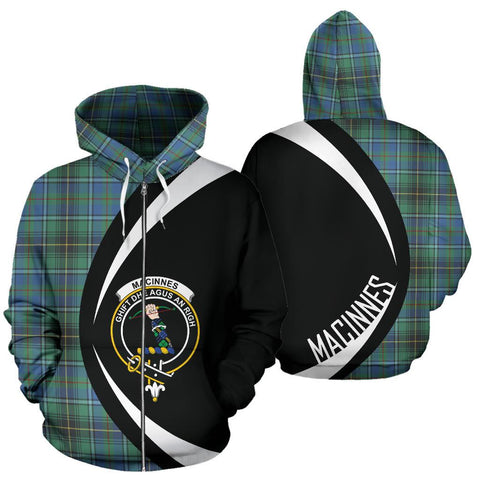 MacInnes Ancient Tartan Circle Zip Hoodie HJ4