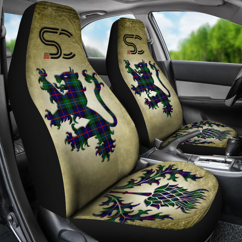 Campbell of Cawdor Modern Tartan Car Seat Cover Lion and Thistle Special Style TH8