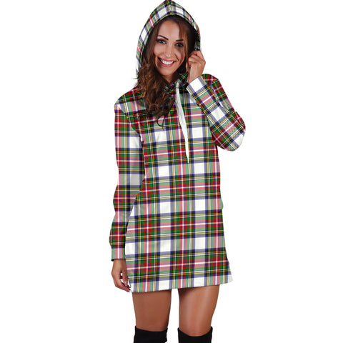 Stewart Dress HJ4 Modern Tartan Hoodie Dress HJ4