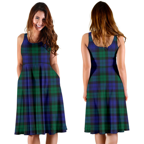 Blackwatch Modern Plaid Women's Dress