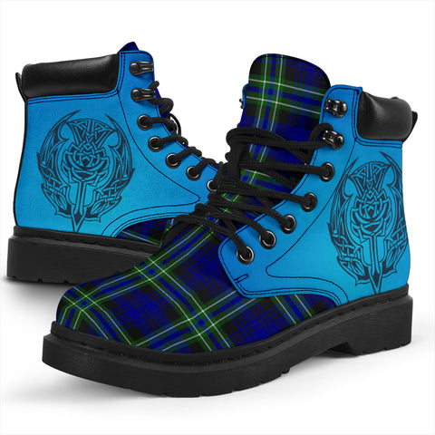 Image of Arbuthnot Modern Tartan All-Season Boots - Celtic Thistle TH8