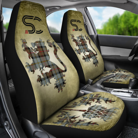 Image of MacLeod of Harris Weathered Tartan Car Seat Cover Lion and Thistle Special Style TH8