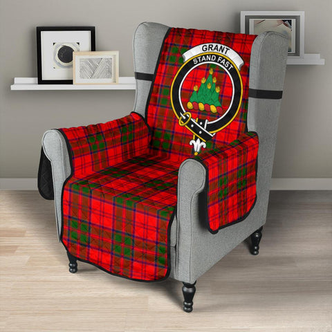 Image of Grant Modern Tartan Clan Badge Sofa Protector K7
