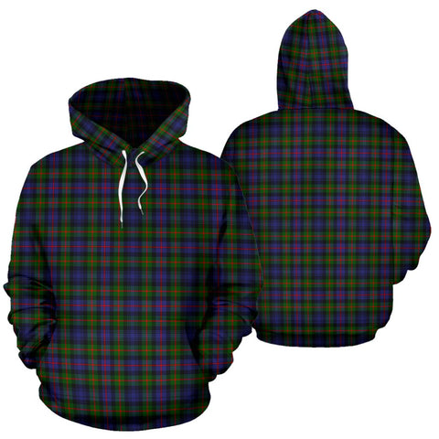 Murray Of Atholl Modern Tartan Hoodie, Scottish Murray Of Atholl Modern Plaid Pullover Hoodie