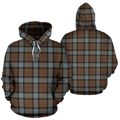 Maclaren Weathered Tartan Hoodie, Scottish Maclaren Weathered Plaid Pullover Hoodie