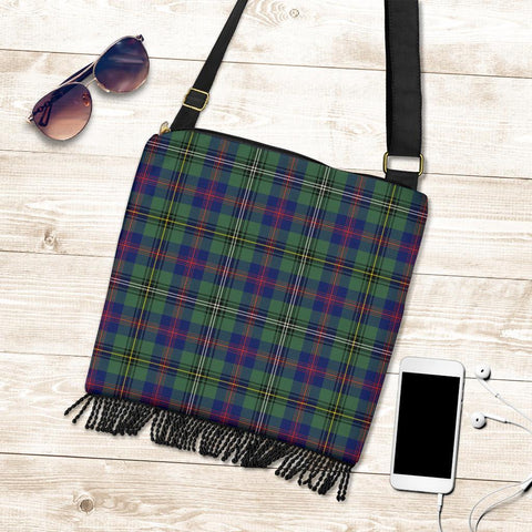 Image of Wood Modern Tartan Boho Handbag K7