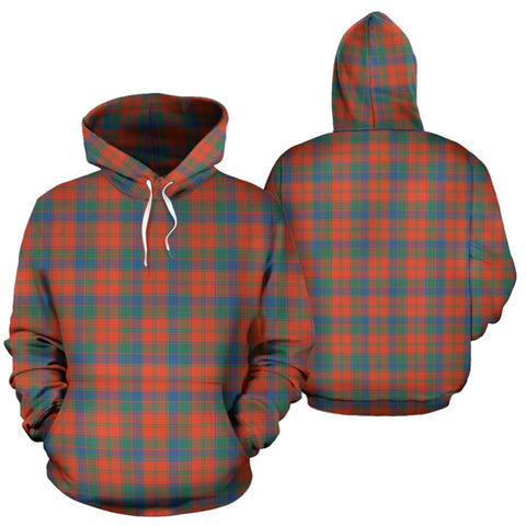 Robertson Ancient Tartan Hoodie, Scottish Robertson Ancient Plaid Pullover Hoodie