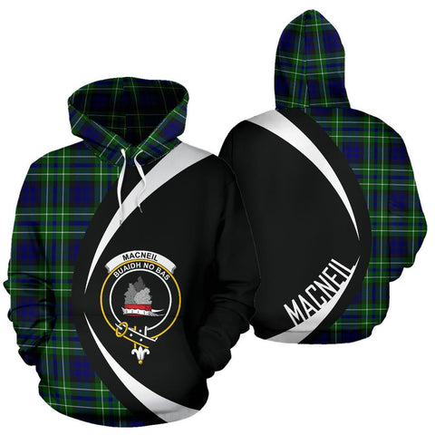 Image of MacNeil of Colonsay Modern Tartan Circle Hoodie HJ4
