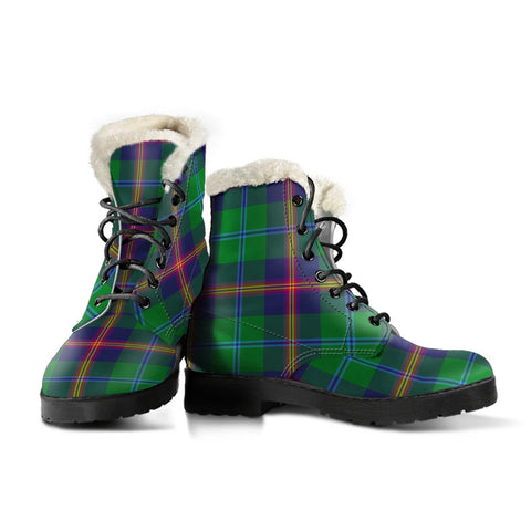 Image of Young Modern Tartan Boots For Women