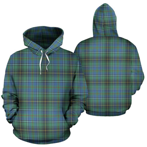 Macinnes Ancient Tartan Hoodie, Scottish Macinnes Ancient Plaid Pullover Hoodie
